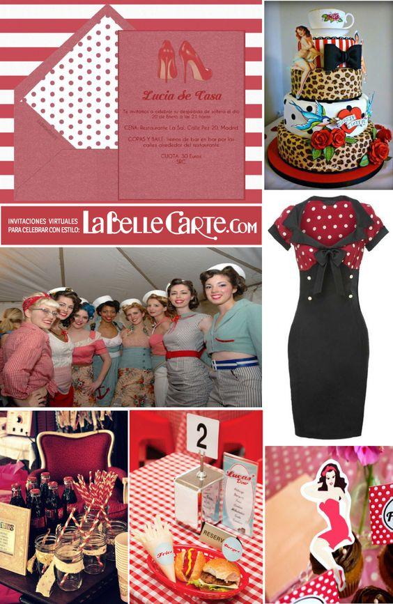 Fiesta para mujer con tema pin up