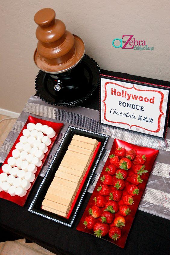 Fiesta tematica de hollywood para cumpleaños de mujer