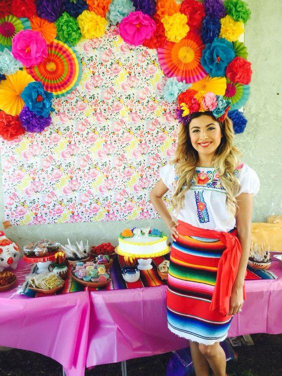 Fiesta tematica mexicana para mujeres