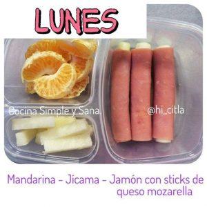 menu para lunch escolar