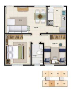 Planos de casas 2 dormitorios economicas (2)