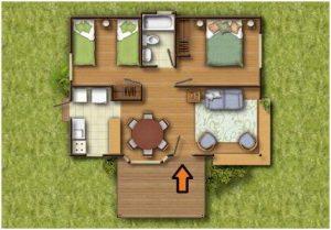 Planos de casas 2 dormitorios economicas