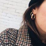 Aretes de moda de Oro