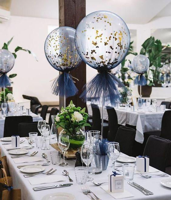 centros de mesa con globos gigantes 2019