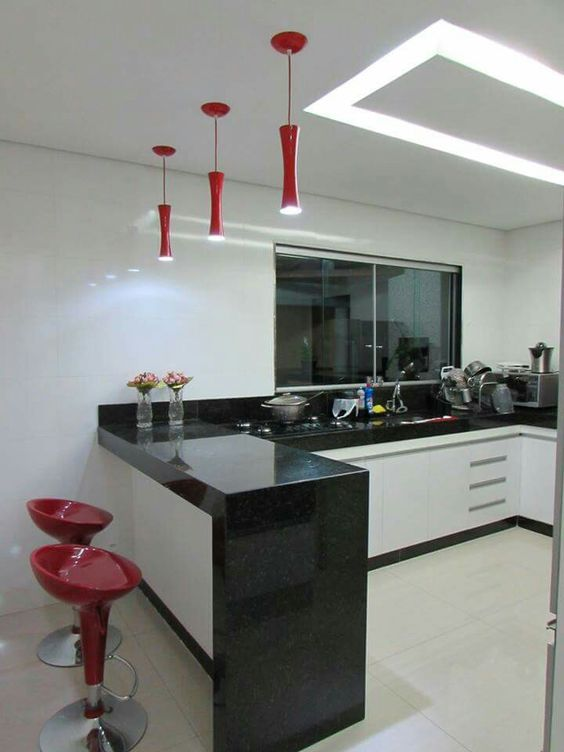 Cocinas peque as modernas 2018 de 150 fotos e ideas for Cocinas modernas pequenas para apartamentos