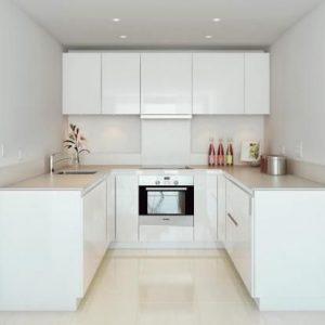 Color en las cocinas pequeñas modernas