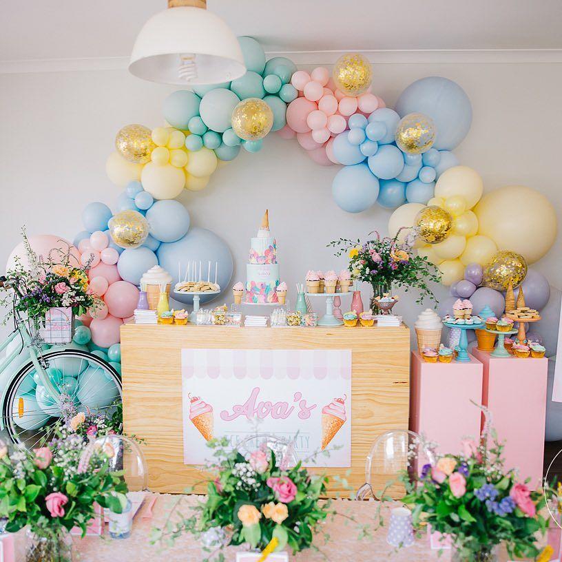 como decorar una fiesta infantil con globos moderna 2019