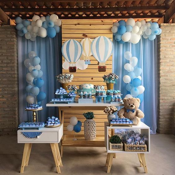 decoracion baby shower oso
