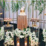 decoracion de eventos mesas de acrilico redondas y velas led