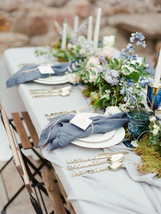 decoracion de fiestas con azul lavanda 2019