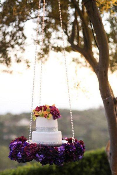 decoracion de pastel con columpios con base de herreria 2