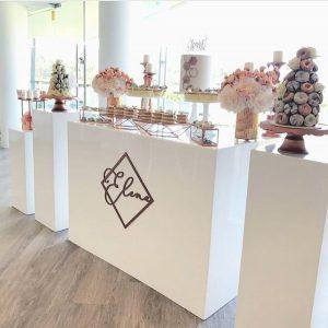 decoracion de torre de donas para mesa de dulces (2)