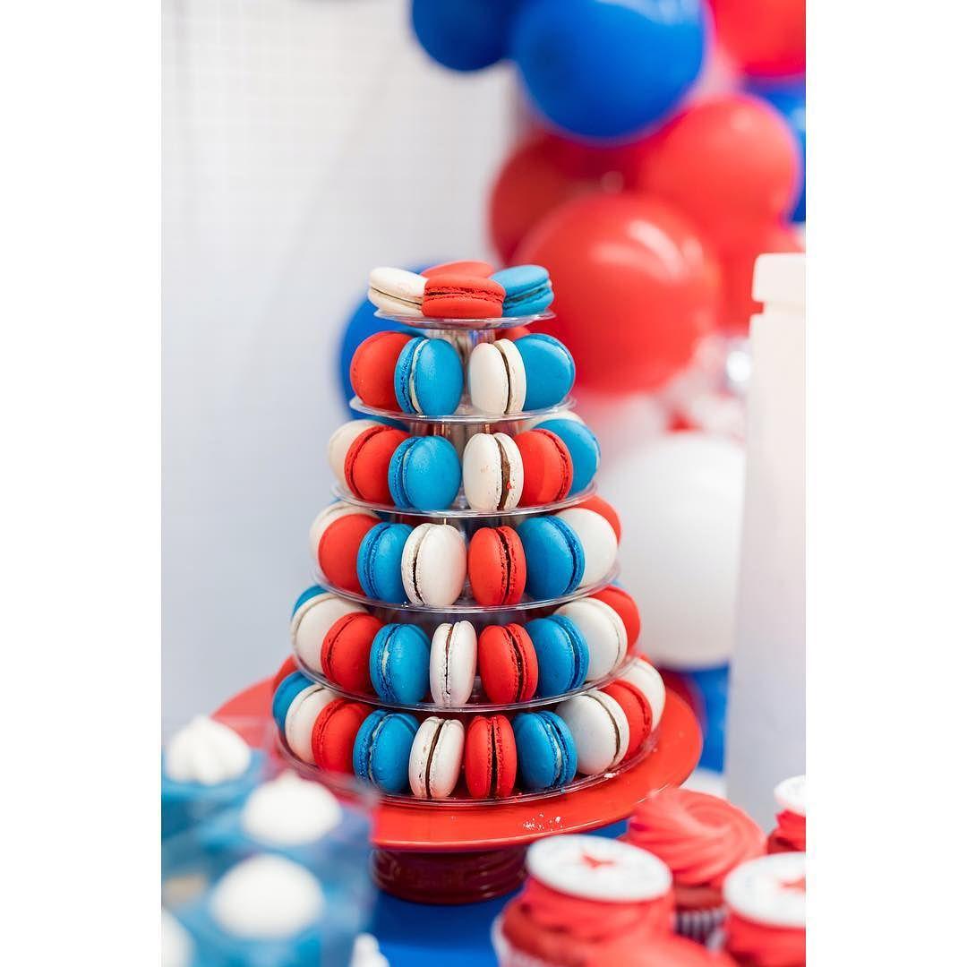 decoracion de torres de macarrones