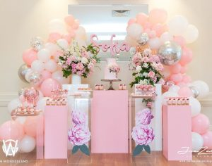 decoracion guirnaldas con globos color plata 2018 (3)