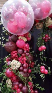 guirnaldas de globos dentro