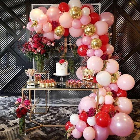 guirnaldas con globos dorados 3