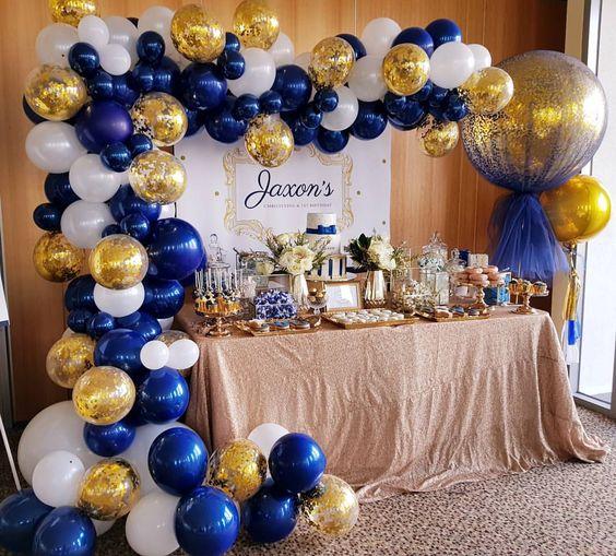 guirnaldas con globos dorados 4