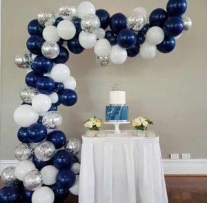 guirnaldas con globos en plata