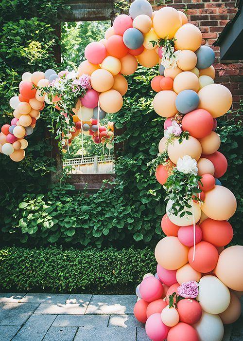 guirnaldas con globos gigantes tono mate 2