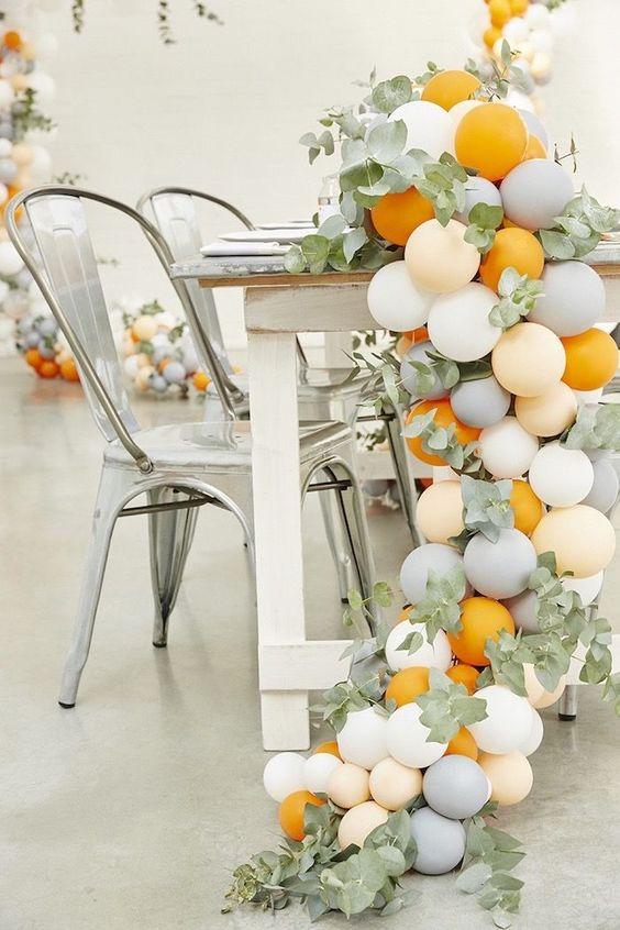 guirnaldas con globos gigantes tono mate 3
