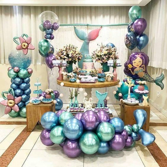 guirnaldas con globos metalicos 5