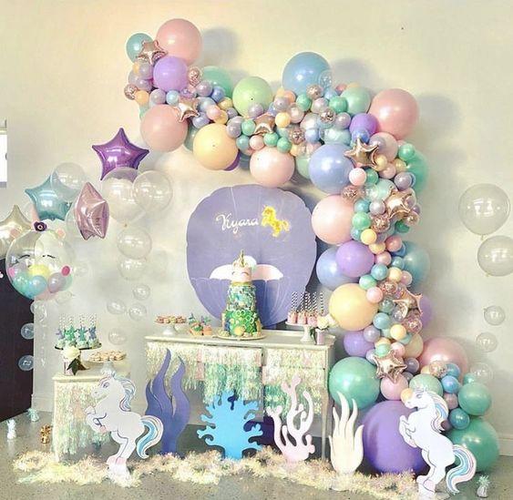 guirnaldas con globos transparentes 3