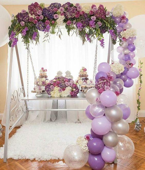 guirnaldas con globos transparentes