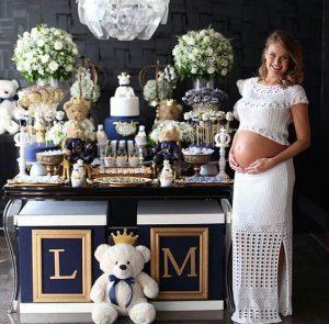ideas para decorar baby shower royal blue