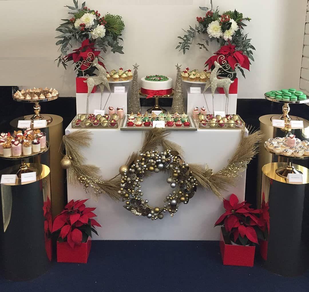 mesas de postres de navidad