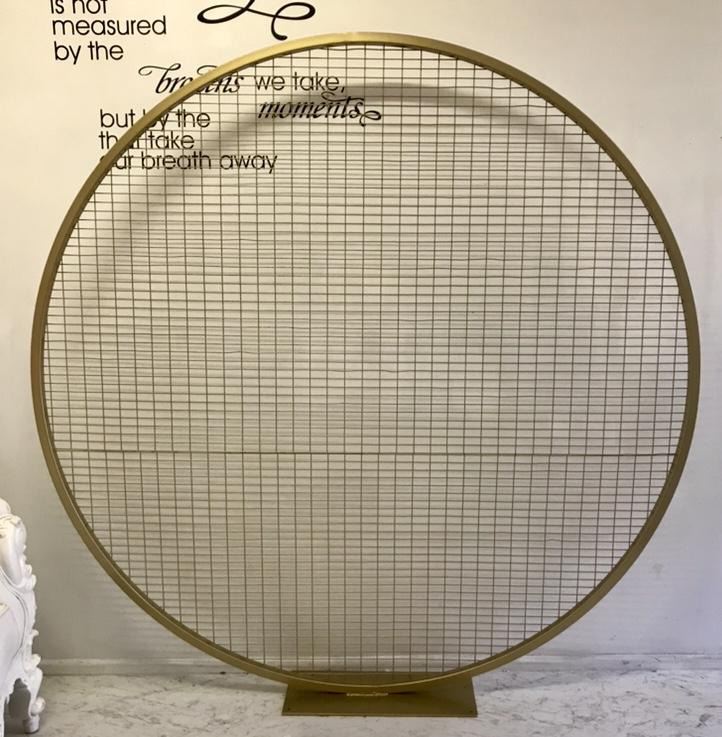 pantalla o mampara redonda con malla