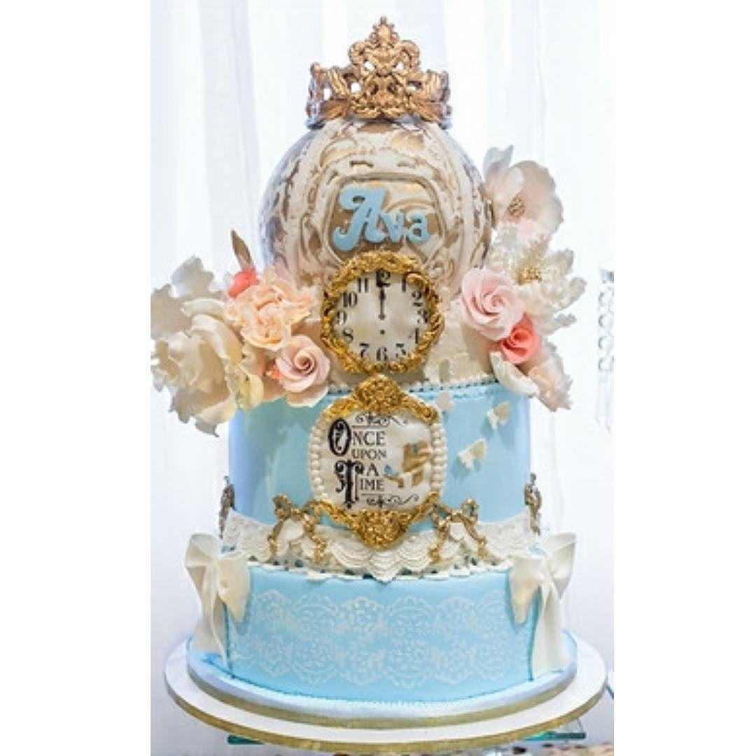 pastel de cumpleanos para fiesta de cenicienta
