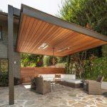 Pergolas para jardín de hierro y madera