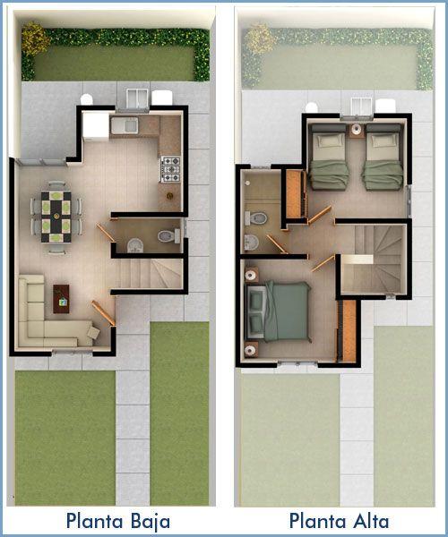 plano casa 2 dormitorios 2 banos (2)