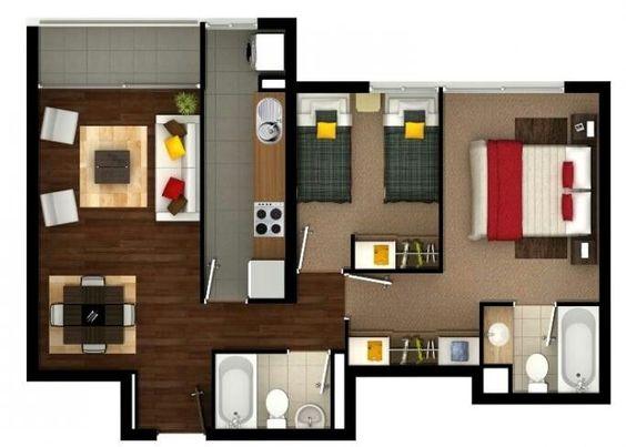 plano casa 2 dormitorios 2 banos (3)
