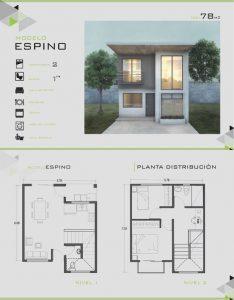 planos de casas de un piso 2 dormitorios