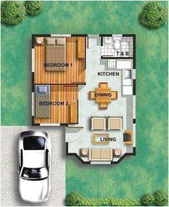 planos de casas de un piso 2 dormitorios y un bano (1)