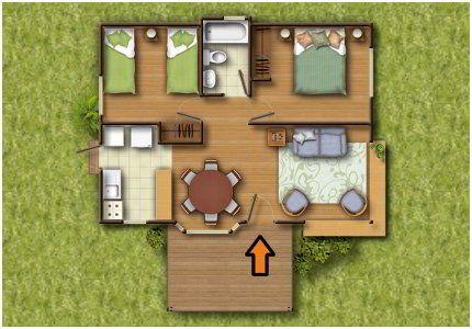 planos de casas de un piso 2 dormitorios y un bano (4)