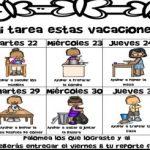 Tabla de tareas domesticas para niños