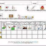Tabla de tareas para niños en el hogar