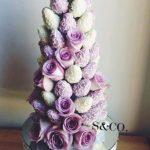Torres de fresas con chocolate