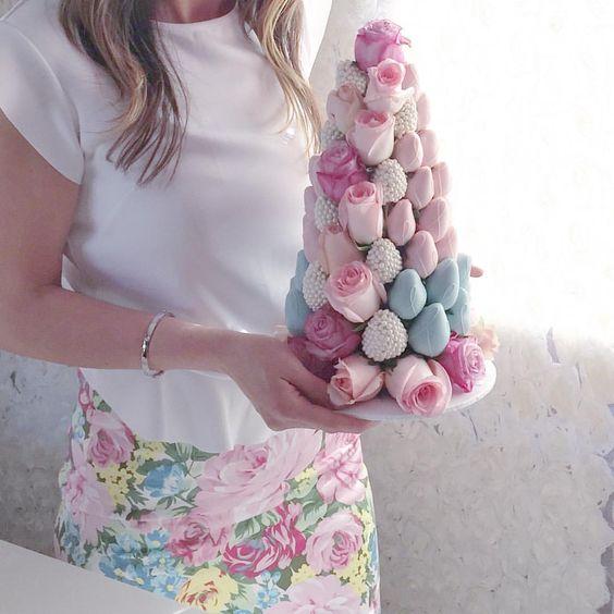 torres de fresas para bodas (5)