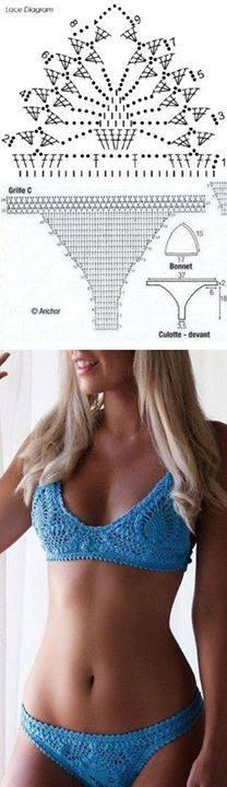Trajes de baños tejidos a mano