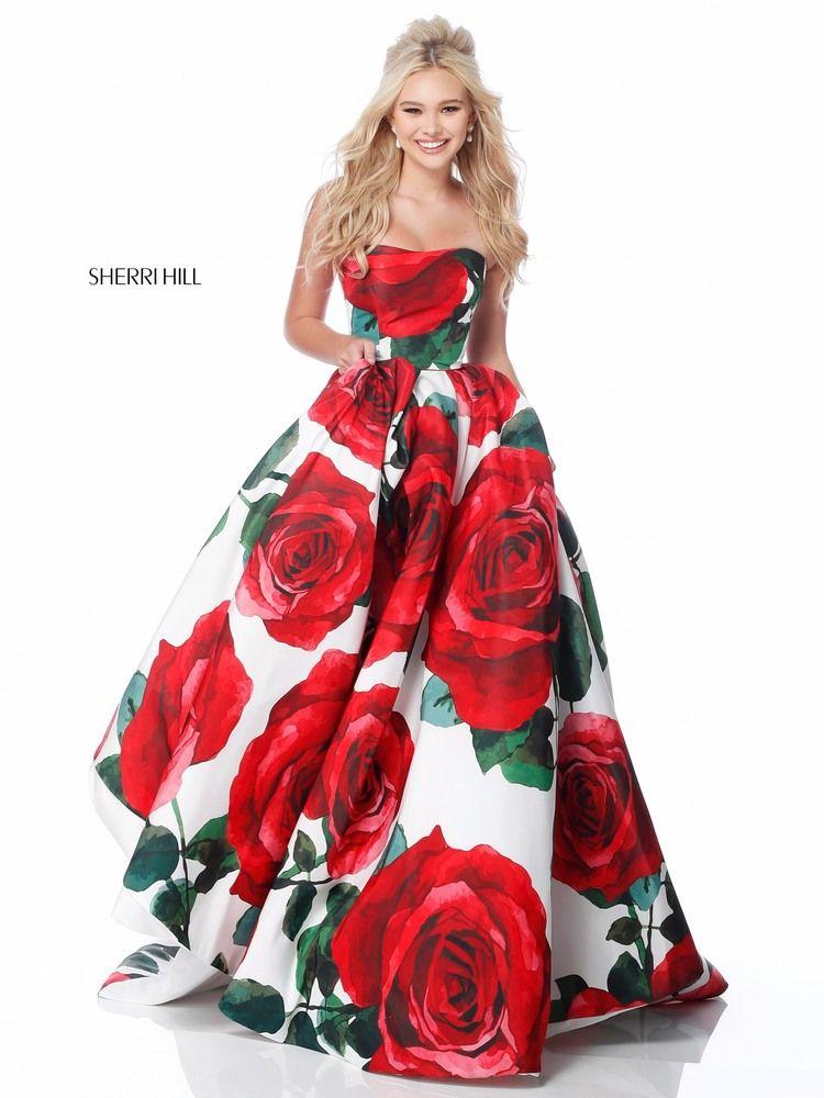 vestidos de graduacion con estampados florales 2018 (1)