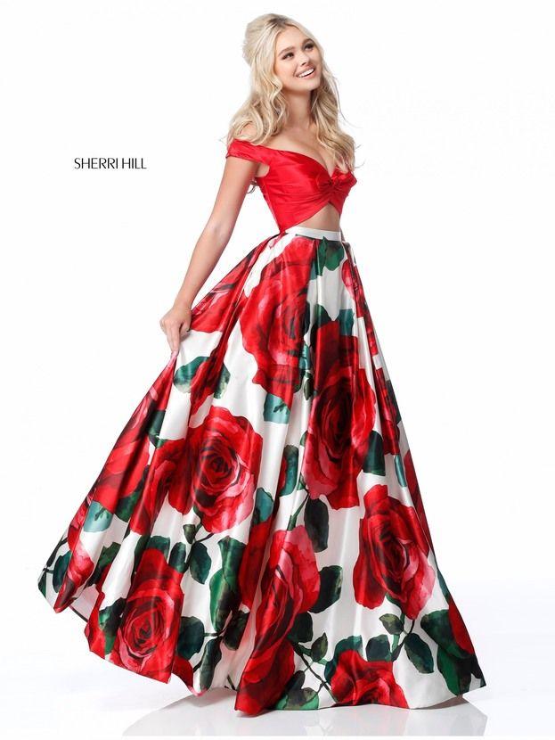 vestidos de graduacion con estampados florales 2018 (2)