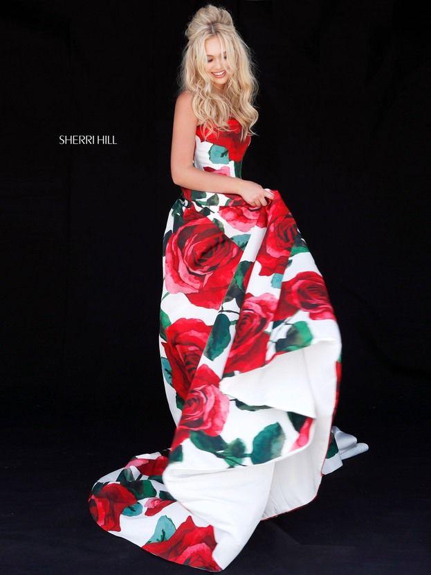vestidos de graduacion con estampados florales 2018 (3)