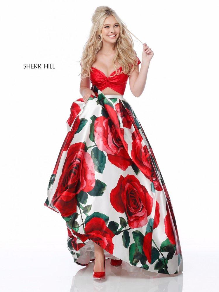 vestidos de graduacion con estampados florales 2018 4
