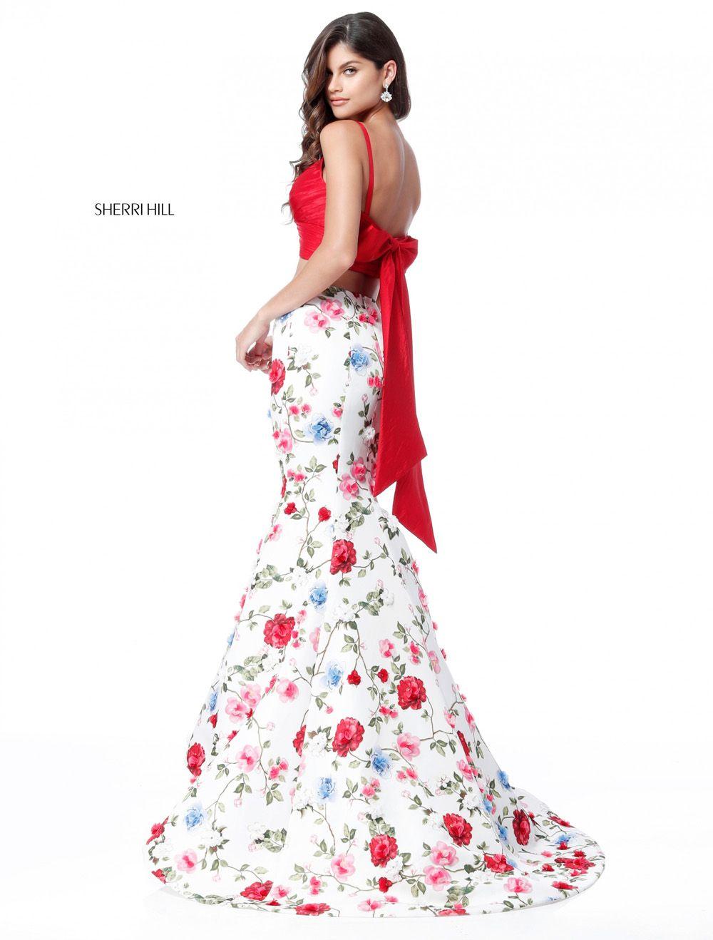 vestidos de graduacion con estampados florales 2018 (4)