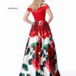 vestidos de graduacion con estampados florales 2018 5