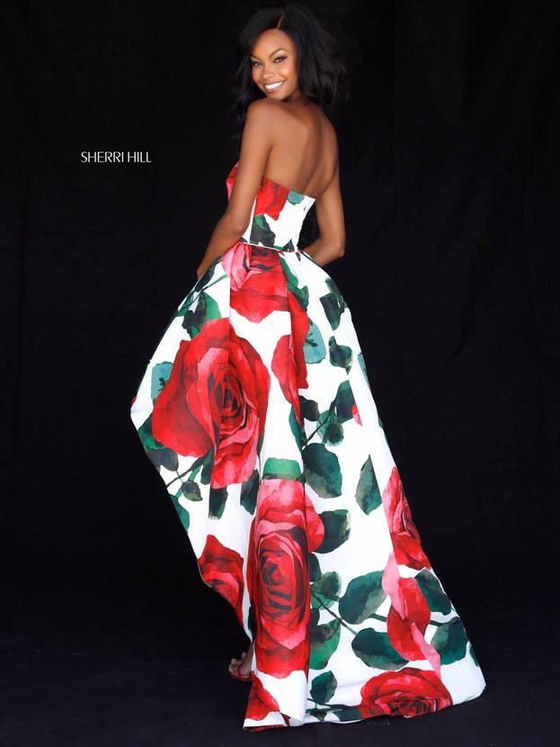 vestidos de graduacion con estampados florales 2018 6 (2)