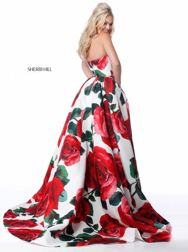 vestidos de graduacion con estampados florales 2018 6